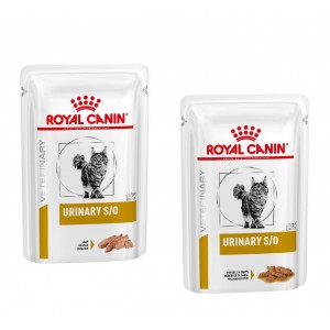 Royal Canin Urinary S/O (Combi) Pouch kattenvoer 48 Loaf + 48 Morsels in Gravy